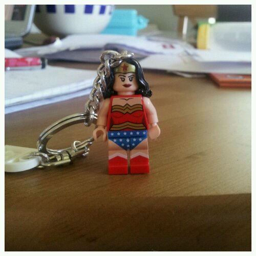 Lego Wonder Woman was so strong she could whip metal chains using just her hair.